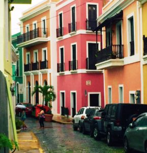 The blue cobblestone streets and colorful architecture make this one of the most beautiful cities in the world.