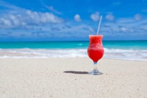 There's nothing better than rum punch on the beach.