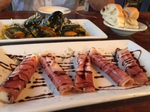 Marinated mussels and the manchego cheese appetizers are delicious