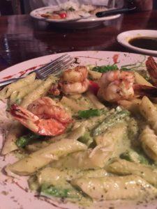The pesto pasta and coconut shrimp are my favorite.